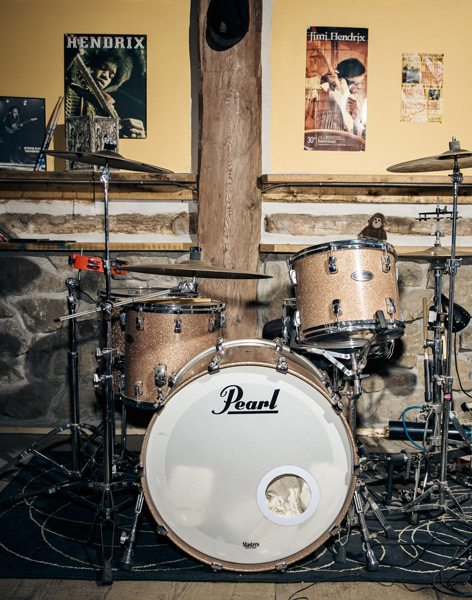 The beat goes on Mark's drum set takes centre stage in his music studio, a a version of Levon Helm's studios in Woodstock, N.Y., where the late Helm once hosted his legendary Midnight  Rambles sessions. Photo: John Kealey