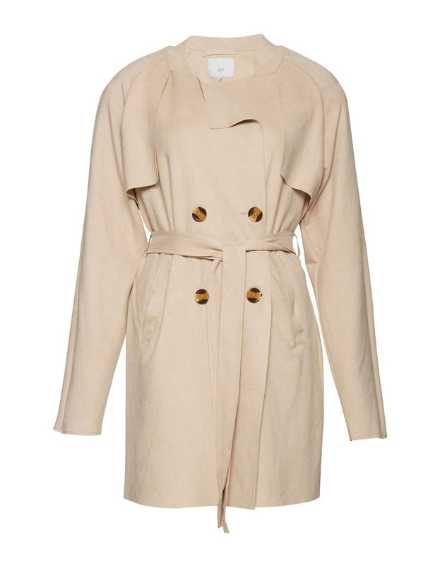 A double-breasted trench coat will lend a touch of High Street to your autumn wardrobe. Structured and elegant, it is lined with a fine plaid fabric. Carefully placed details, such as buttons and wide piping, complete the look. $159. Zara, 50 Rideau St. and 100 Bayshore Dr.