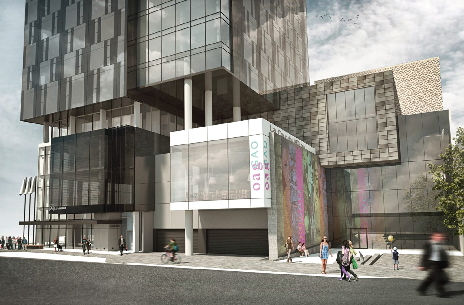 OAG's new entrance on Daly Avenue is modern and striking and its location between the University of Ottawa and the Rideau Centre will undoubtedly attract visitors. Photo: courtesy of OAG