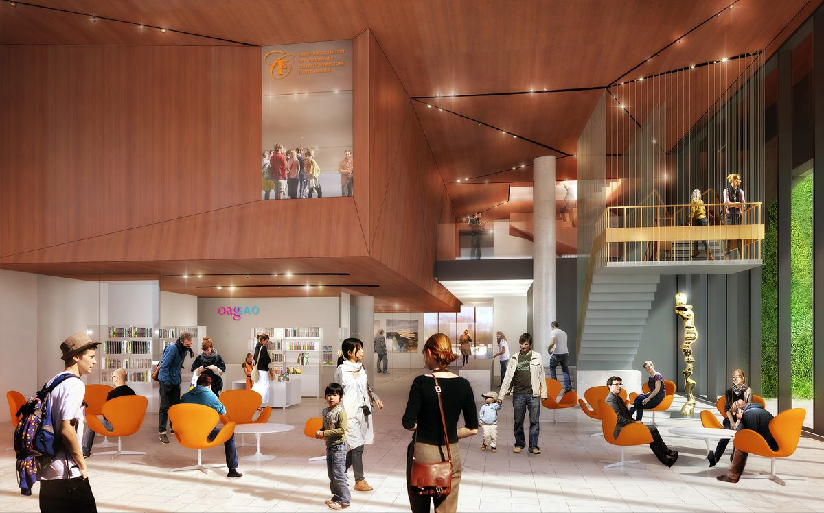 Rendering of what the OAG's new lobby will look like. Photo: courtesy of OAG